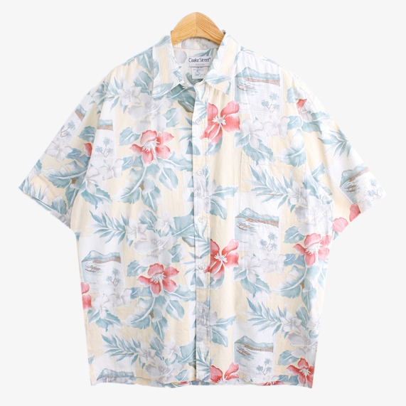 쿡스트릿 [COOKE STREET]빈티지하와이안셔츠 1068  MADE IN HAWAII U.S.A SIZE L